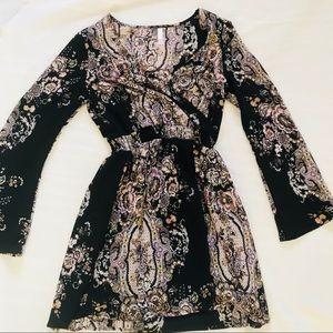 NWOT Paisley Bell Sleeve Dress